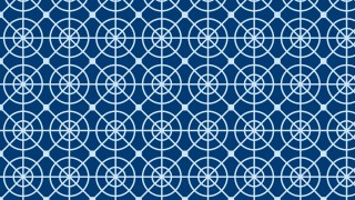 Blue Geometric Circle Background Pattern Illustration