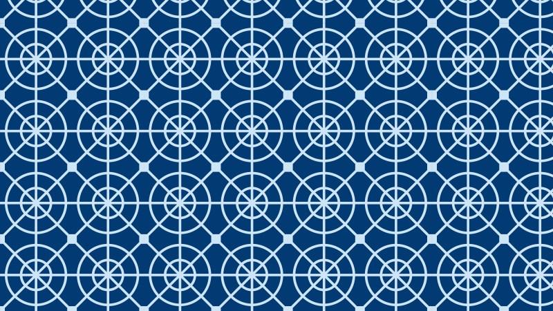 Blue Geometric Circle Background Pattern Illustration