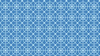 Blue Seamless Circle Pattern Design