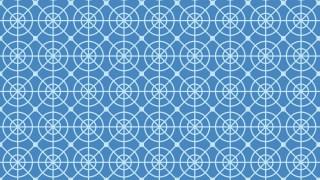 Blue Seamless Circle Pattern Design