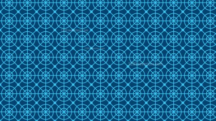 Blue Seamless Circle Background Pattern Vector Graphic
