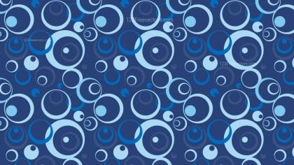 Dark Blue Seamless Geometric Circle Pattern Background