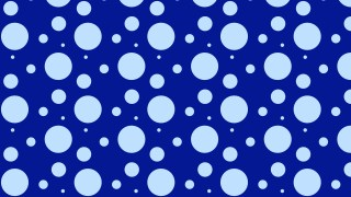 Royal Blue Seamless Scattered Dots Pattern Vector Art