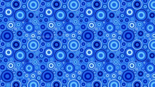 Cobalt Blue Geometric Circle Pattern Background Vector Graphic
