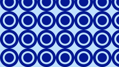 Royal Blue Seamless Circle Pattern Background Vector Illustration