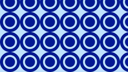 Royal Blue Seamless Circle Pattern Background Vector Illustration