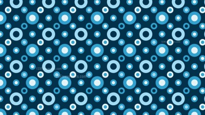 Dark Blue Seamless Circle Background Pattern Vector