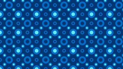 Dark Blue Seamless Geometric Circle Pattern Vector Art