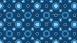 Dark Blue Circle Pattern