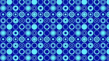 Blue Seamless Geometric Circle Pattern Background