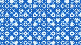 Blue Geometric Circle Pattern Vector Illustration