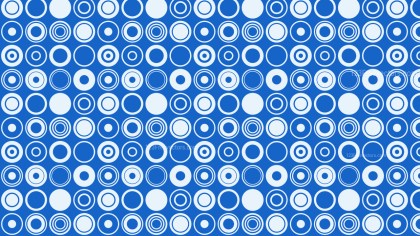 Blue Geometric Circle Pattern Vector Illustration
