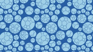Blue Geometric Circle Pattern