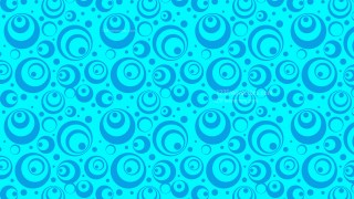Cyan Geometric Circle Background Pattern