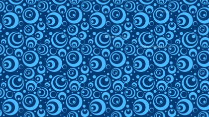 Blue Seamless Geometric Circle Pattern