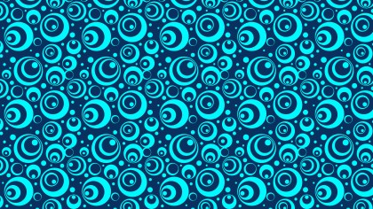 Blue Seamless Geometric Circle Background Pattern