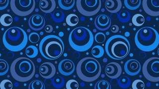 Navy Blue Circle Background Pattern Graphic