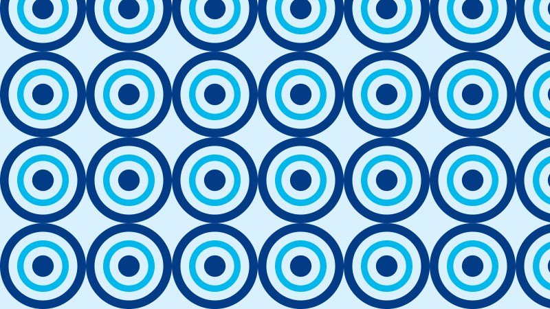 Blue Seamless Concentric Circles Pattern