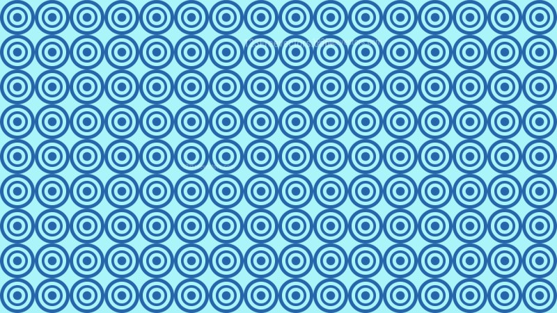 Blue Seamless Concentric Circles Background Pattern