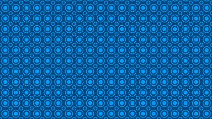 Blue Seamless Circle Pattern Vector Graphic
