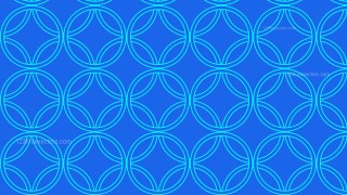 Cobalt Blue Overlapping Circles Pattern Background