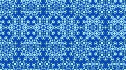 Blue Seamless Geometric Circle Background Pattern Vector Art