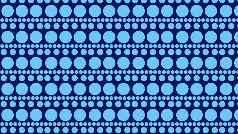 Blue Seamless Circle Background Pattern