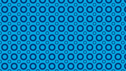 Blue Geometric Circle Pattern Vector Image