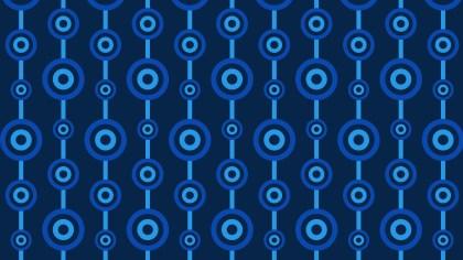 Navy Blue Seamless Circle Pattern Vector