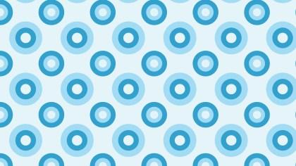 Light Blue Seamless Circle Pattern