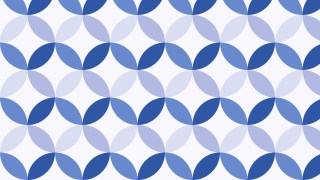 Light Blue Seamless Overlapping Circles Pattern