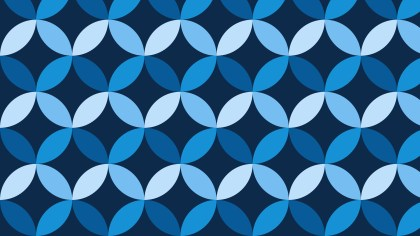 Dark Blue Seamless Overlapping Circles Pattern Background