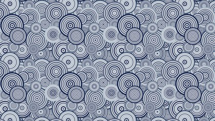 Blue Seamless Overlapping Concentric Circles Pattern Illustrator