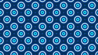 Blue Concentric Circles Pattern Background Vector Image