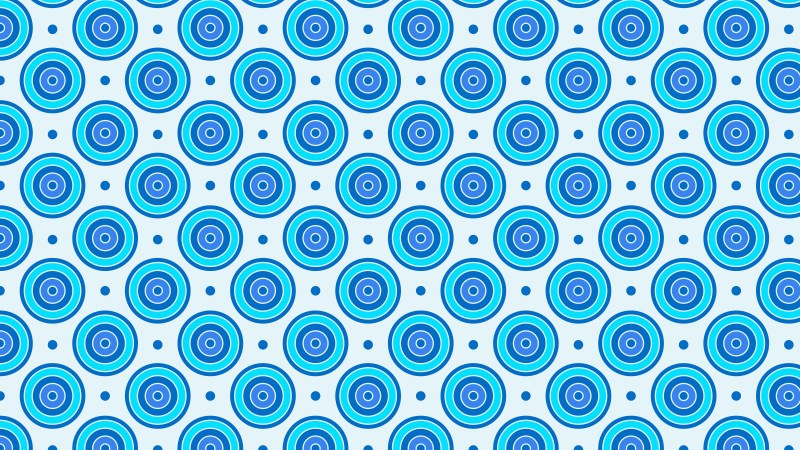 Blue Seamless Concentric Circles Pattern Vector Illustration