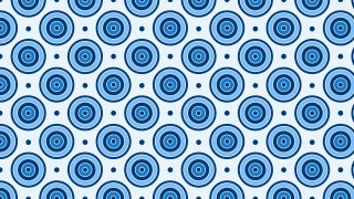 Blue Seamless Concentric Circles Pattern Background Vector