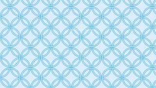 Light Blue Seamless Overlapping Circles Background Pattern Image