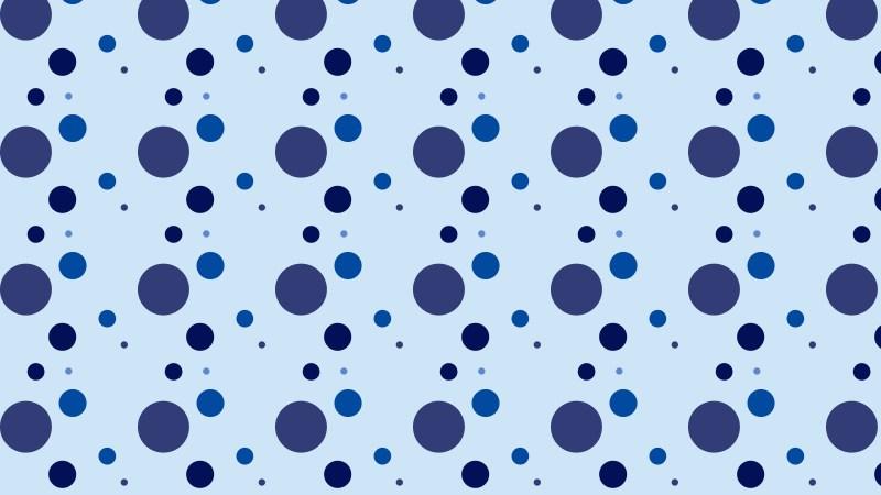 Blue Random Circles Dots Background Pattern Vector Image