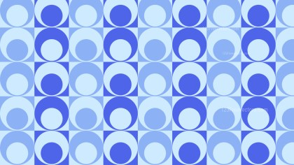 Blue Seamless Circle Pattern Background