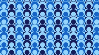 Blue Seamless Circle Background Pattern
