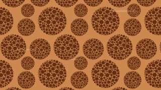 Brown Seamless Dotted Circles Background Pattern