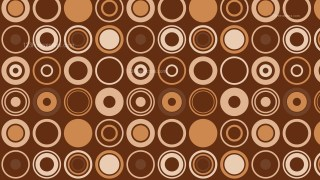 Brown Seamless Geometric Circle Pattern Vector Image