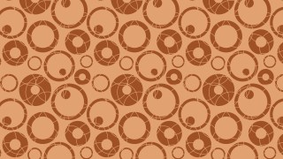 Brown Seamless Geometric Circle Pattern Background Illustrator