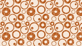 Brown Seamless Geometric Circle Background Pattern Vector Illustration