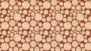 Brown Circle Pattern Background