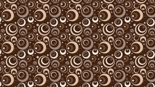 Dark Brown Geometric Circle Pattern