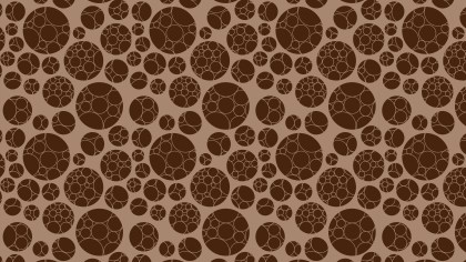 Dark Brown Geometric Circle Pattern Background