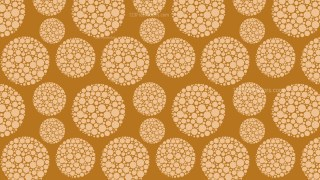Brown Dotted Circles Pattern Background Design