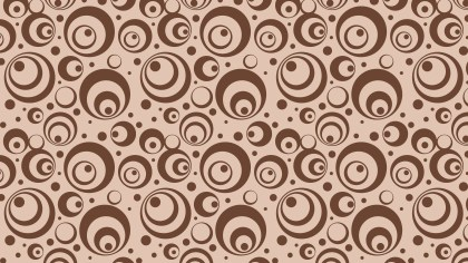 Brown Seamless Circle Pattern