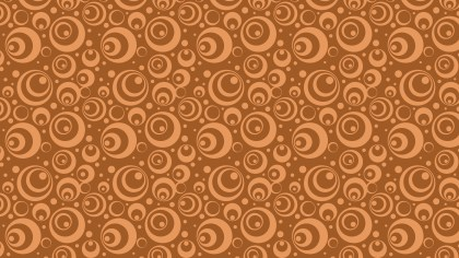 Brown Seamless Circle Background Pattern